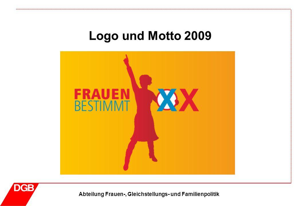Abteilung Frauen-, Gleichstellungs- und Familienpolitik Logo und Motto 2009