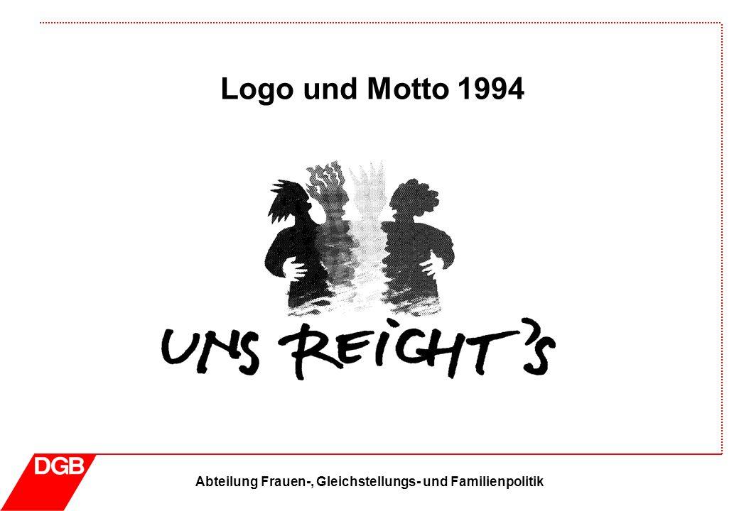 Abteilung Frauen-, Gleichstellungs- und Familienpolitik Logo und Motto 1995