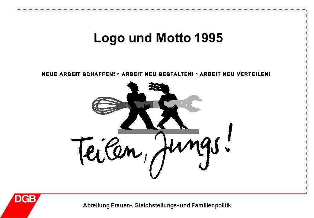 Abteilung Frauen-, Gleichstellungs- und Familienpolitik Logo und Motto 1996 … denn Frauen wissen, was sie wollen.