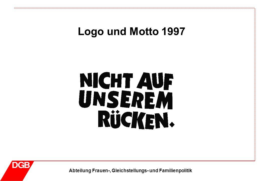 Abteilung Frauen-, Gleichstellungs- und Familienpolitik Logo und Motto 1997