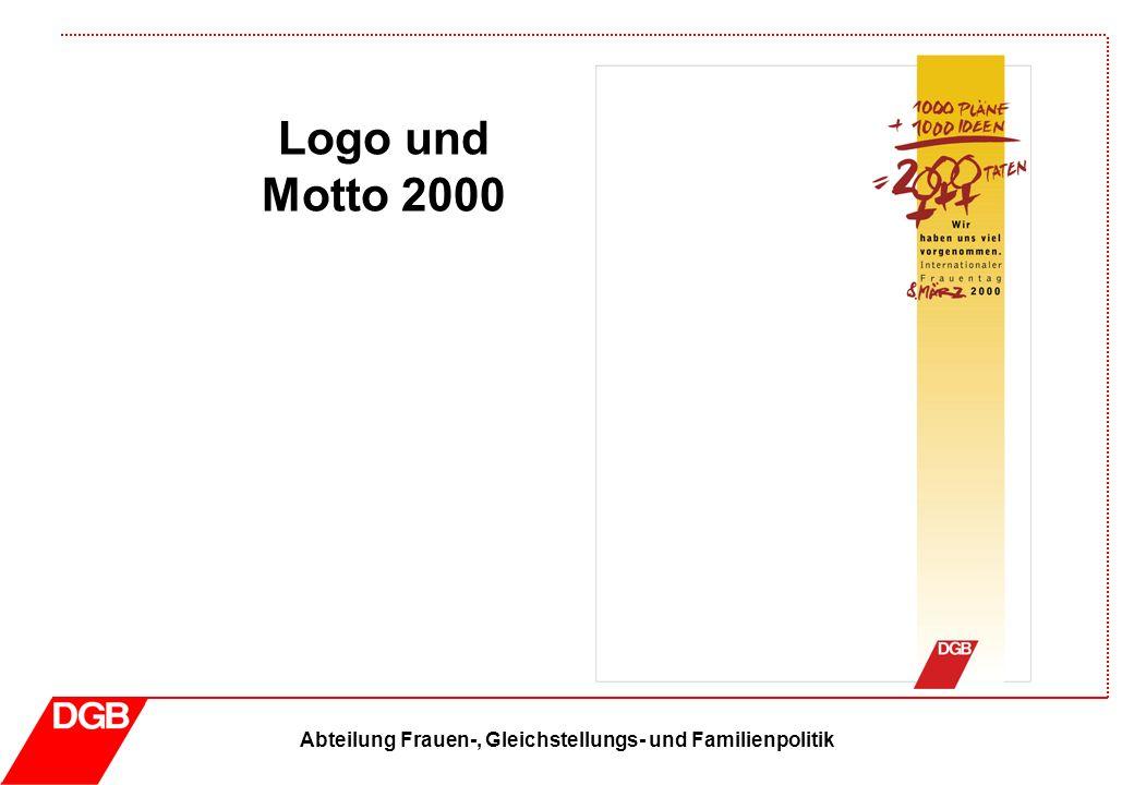 Abteilung Frauen-, Gleichstellungs- und Familienpolitik Logo und Motto 2011