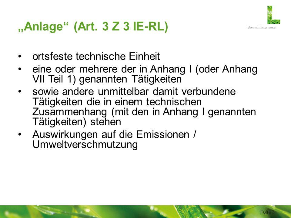 """""""Anlage (Art."""