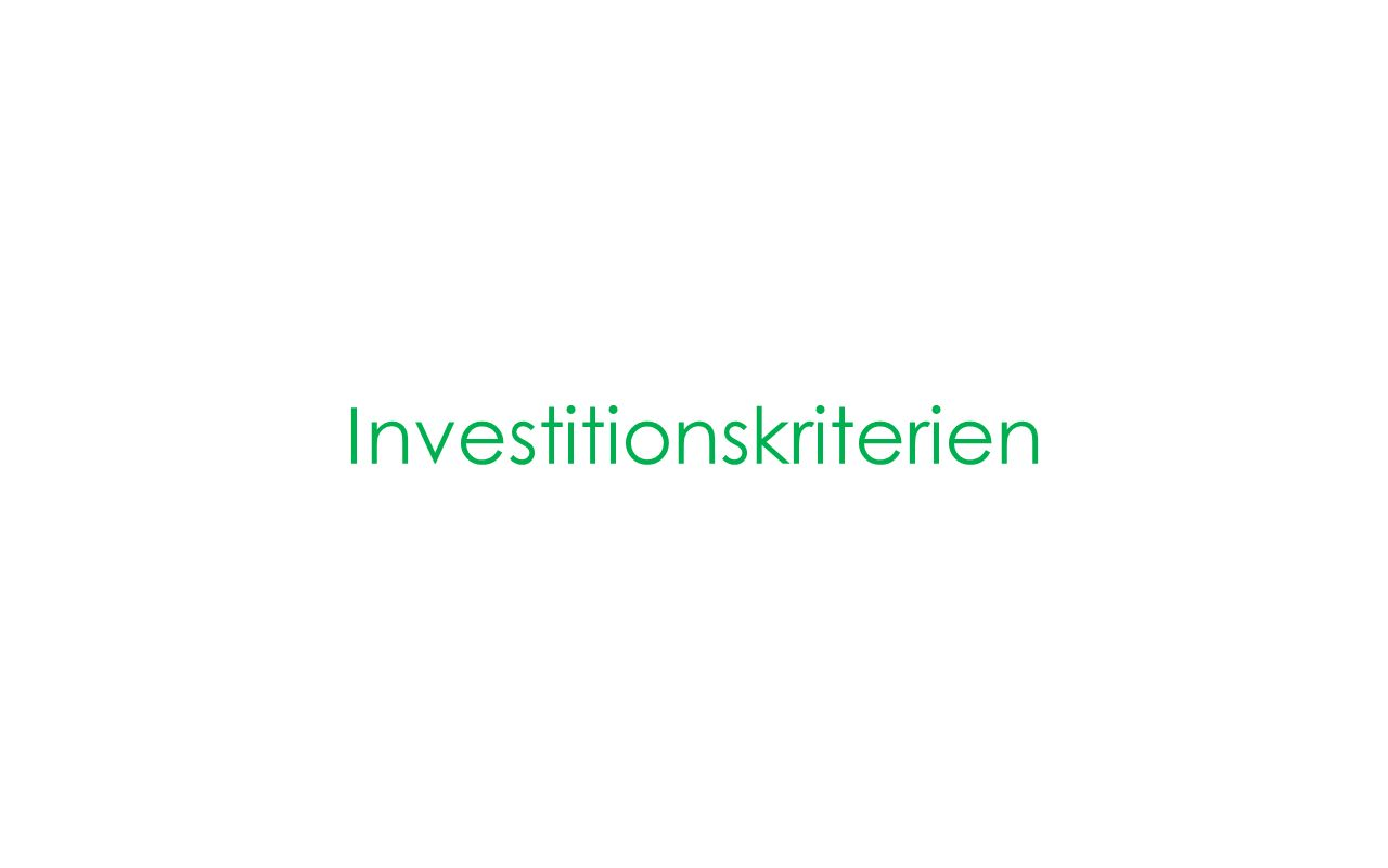 Investitionskriterien