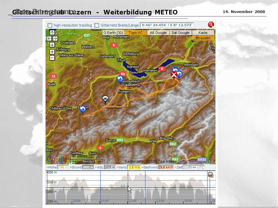 Gleitschirmclub Luzern - Weiterbildung METEO 14. November 2008 _ Das Emagramm