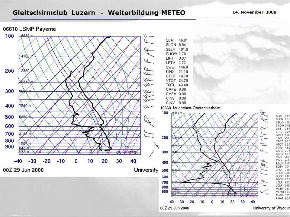 Gleitschirmclub Luzern - Weiterbildung METEO 14. November 2008