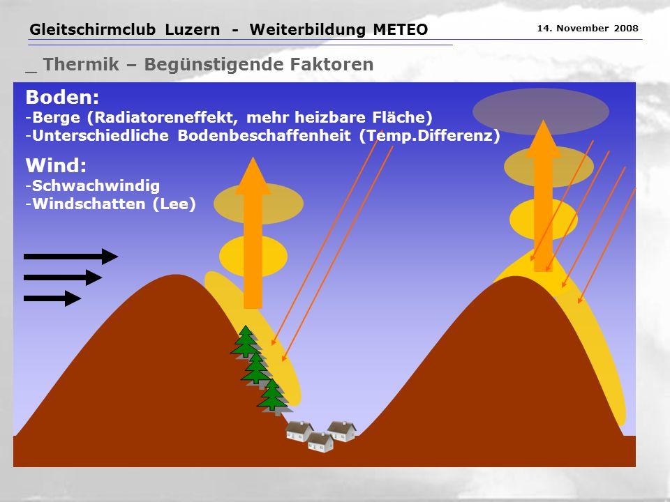 Gleitschirmclub Luzern - Weiterbildung METEO 14.