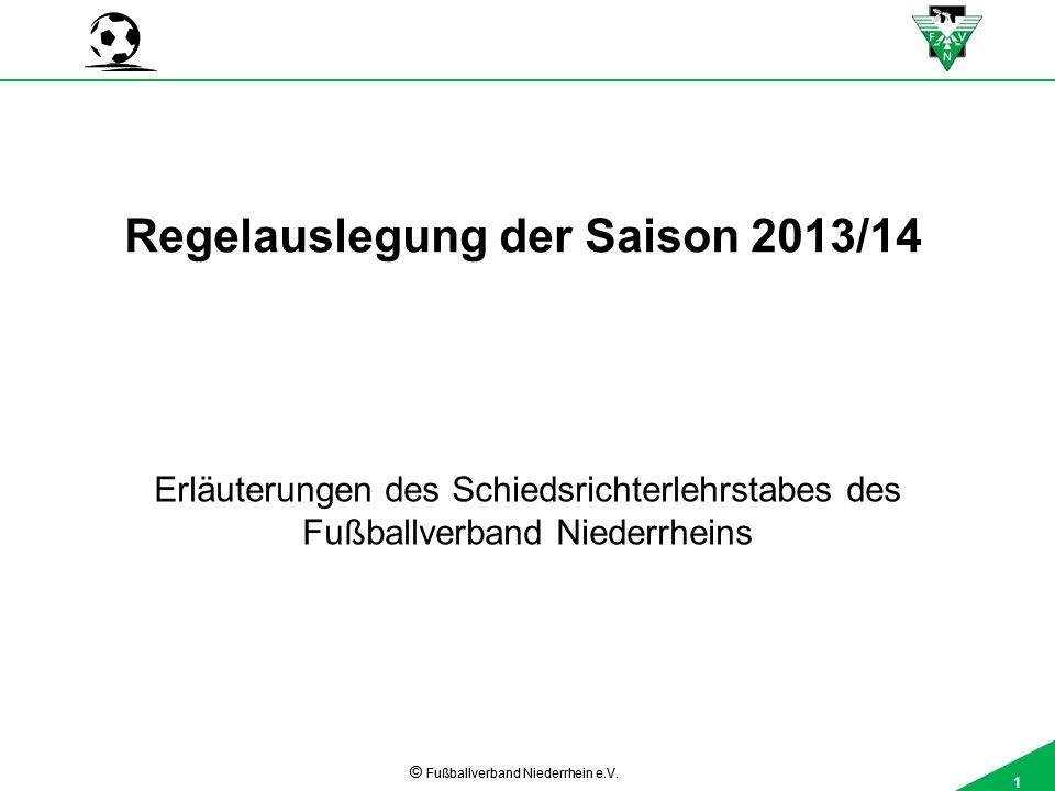 1 © Fußballverband Niederrhein e.V.