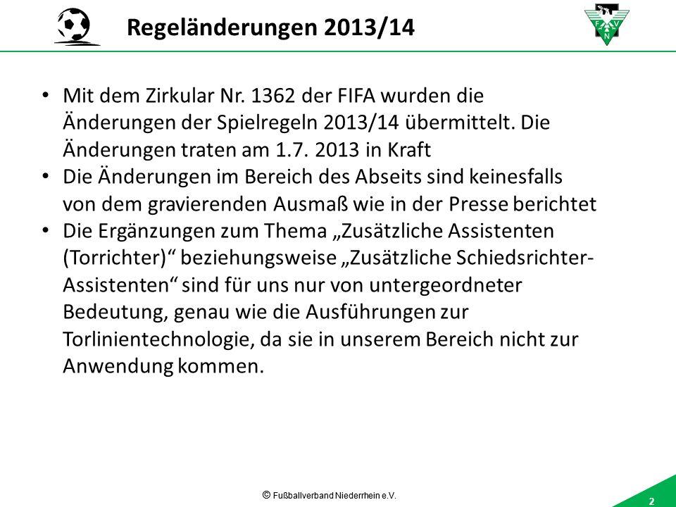 2 © Fußballverband Niederrhein e.V. 2 Mit dem Zirkular Nr.