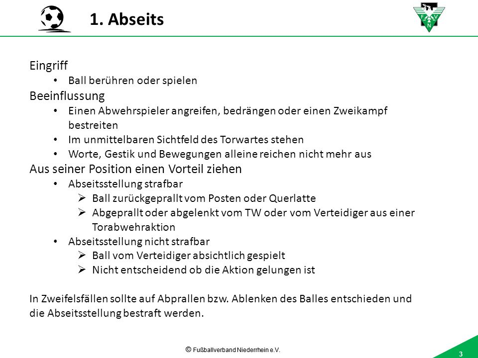 3 © Fußballverband Niederrhein e.V.