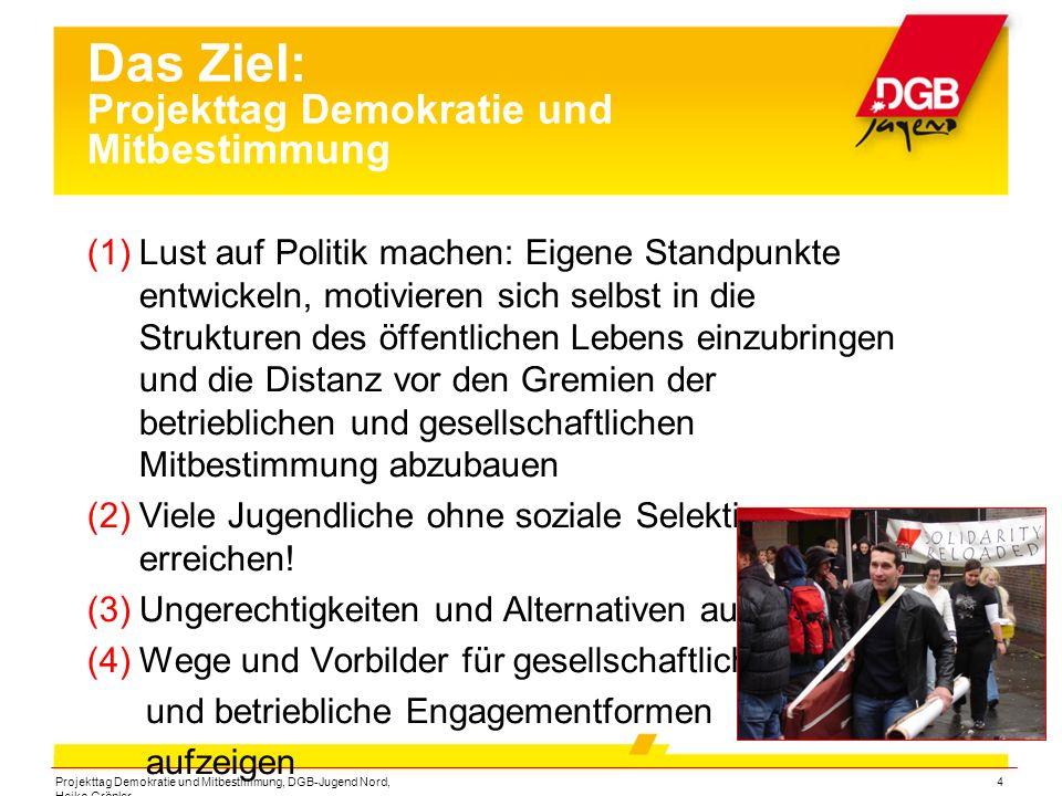Projekttag Demokratie und Mitbestimmung, DGB-Jugend Nord, Heiko Gröpler 15 Verantwortung übernehmen im Norden Dankeschön!