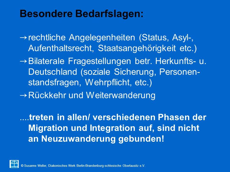 © Susanne Weller, Diakonisches Werk Berlin-Brandenburg-schlesische Oberlausitz e.V. Besondere Bedarfslagen: → rechtliche Angelegenheiten (Status, Asyl