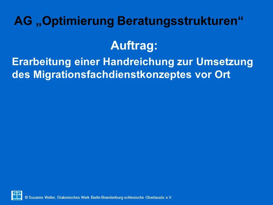 """© Susanne Weller, Diakonisches Werk Berlin-Brandenburg-schlesische Oberlausitz e.V. AG """"Optimierung Beratungsstrukturen"""" Auftrag: Erarbeitung einer Ha"""