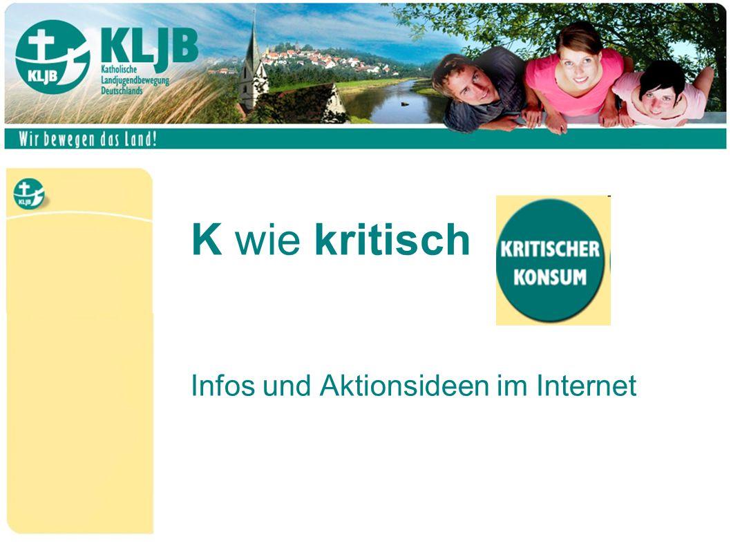 K wie kritisch Infos und Aktionsideen im Internet