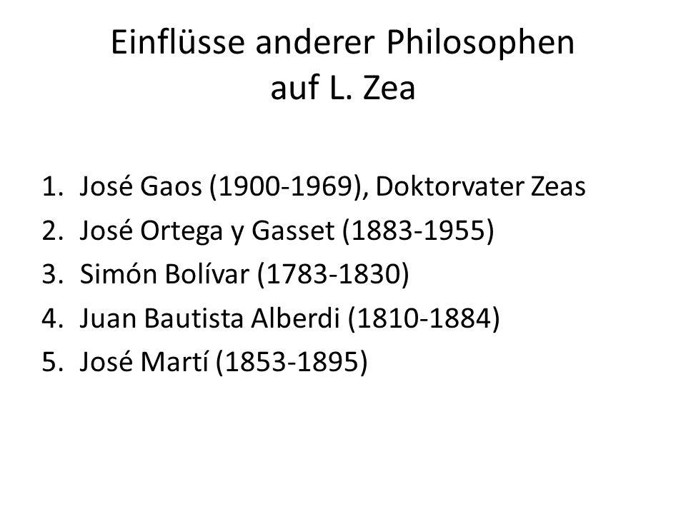 José Gaos (1900-1969), Doktorvater Zeas 1938 flieht Gaos aus Spanien wegen des Bürgerkriegs.