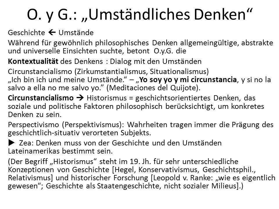 """O. y G.: """"Umständliches Denken"""" Geschichte  Umstände Während für gewöhnlich philosophisches Denken allgemeingültige, abstrakte und universelle Einsic"""