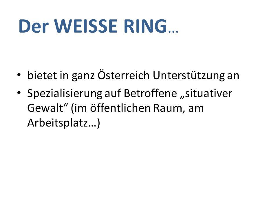 Opfer-Notruf 0800 112 112 Fallzahlen Weisser Ring – Wien 2008 - 2012