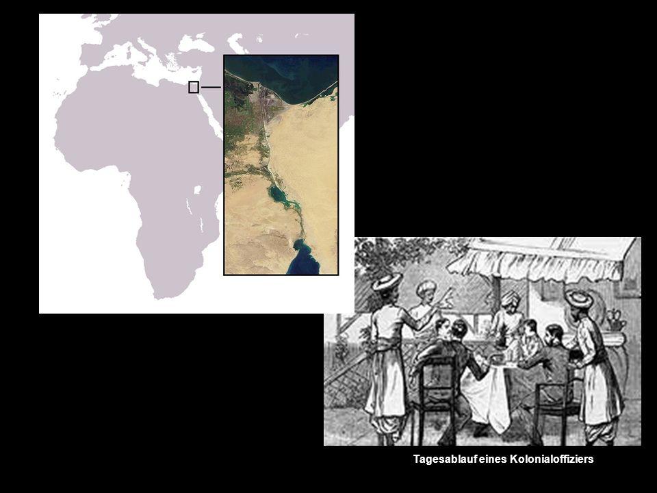 Tagesablauf eines Kolonialoffiziers