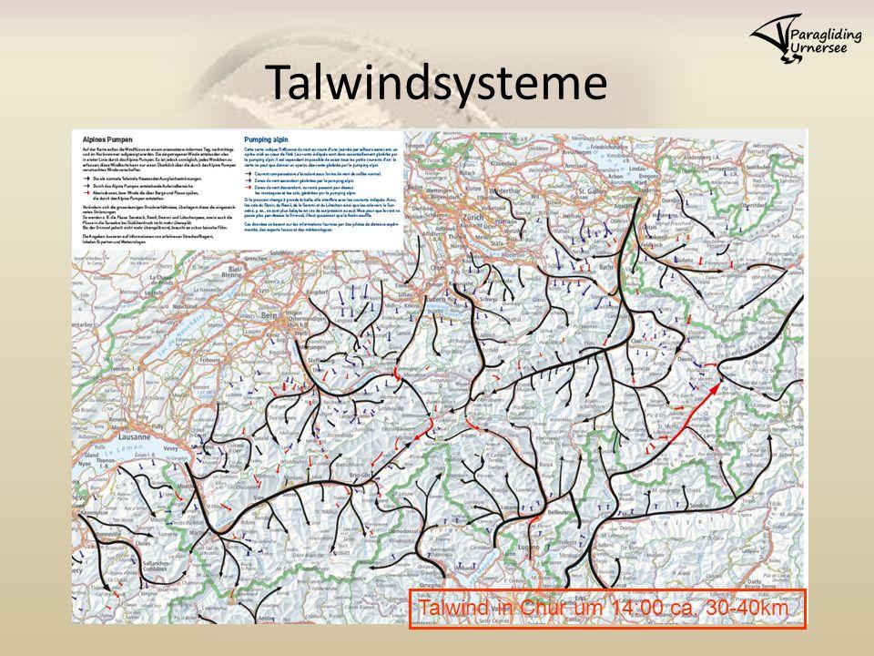 Talwindsysteme Talwind in Chur um 14:00 ca. 30-40km