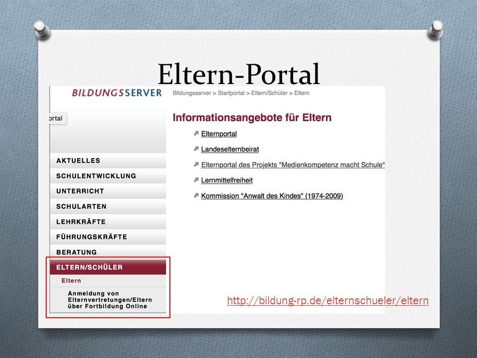 Eltern-Portal http://bildung-rp.de/elternschueler/eltern