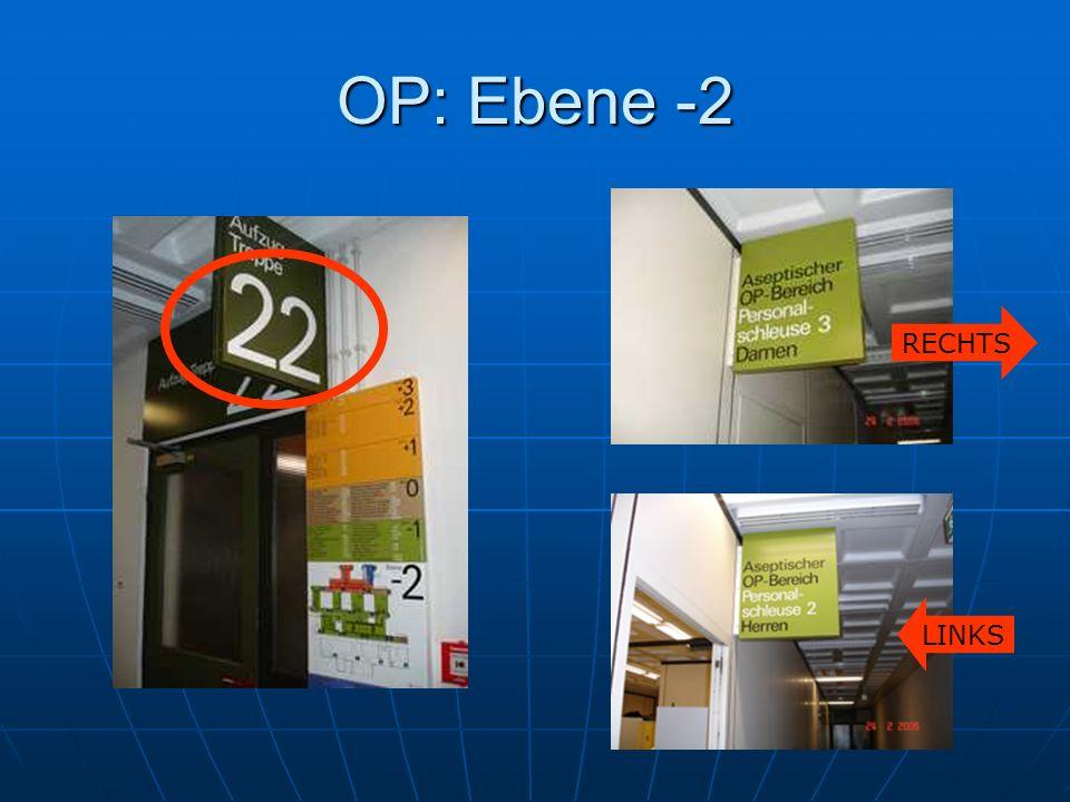 OP: Ebene -2 RECHTS LINKS