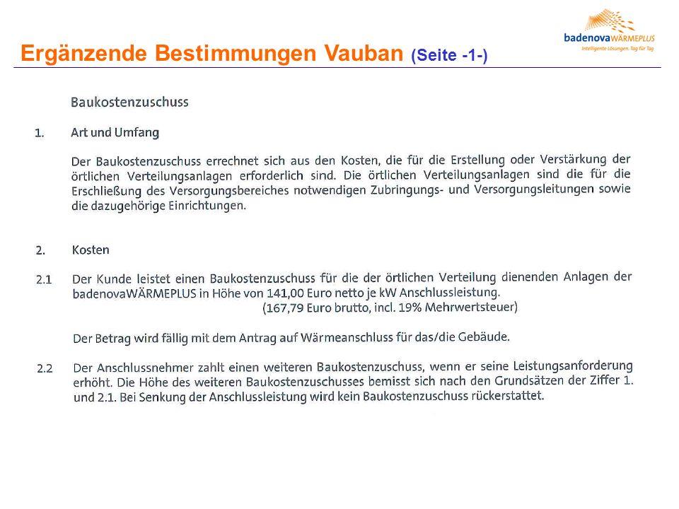 Ergänzende Bestimmungen Vauban (Seite -1-)