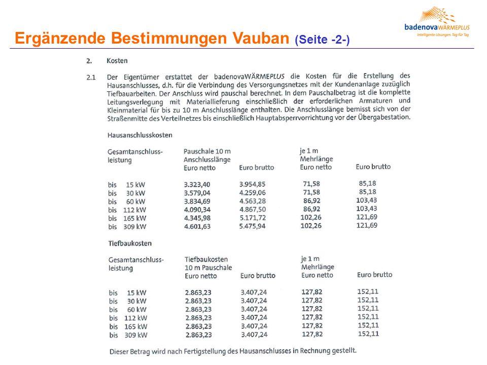 Ergänzende Bestimmungen Vauban (Seite -2-)