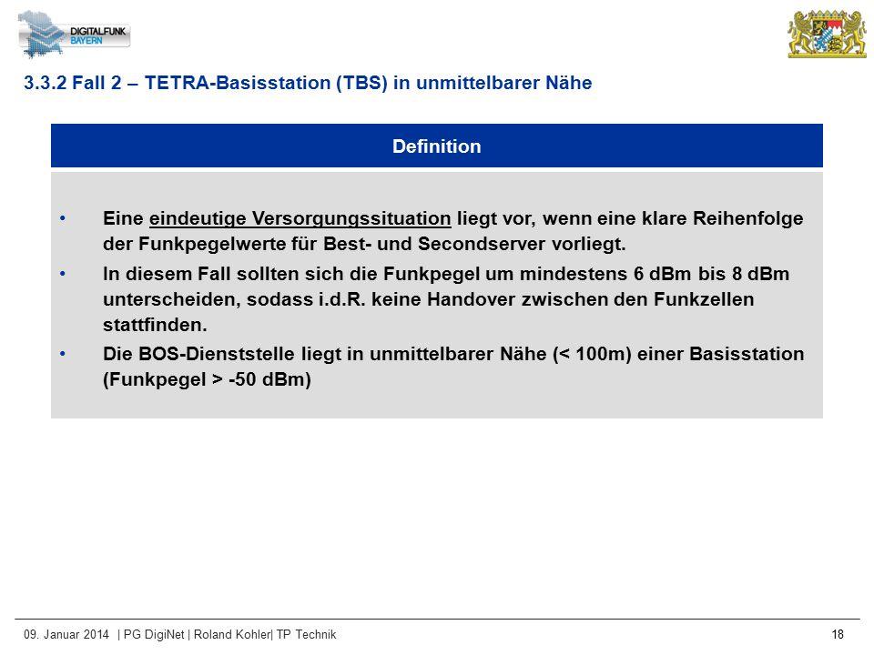 09. Januar 2014 | PG DigiNet | Roland Kohler| TP Technik 18 Definition Eine eindeutige Versorgungssituation liegt vor, wenn eine klare Reihenfolge der