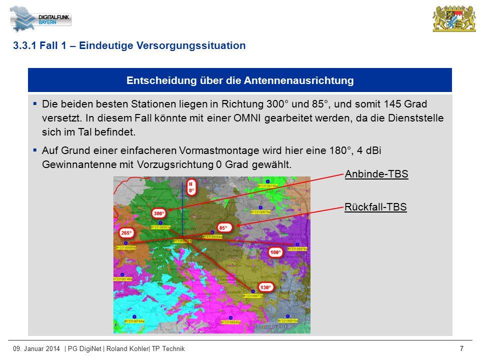 09. Januar 2014 | PG DigiNet | Roland Kohler| TP Technik 7 Entscheidung über die Antennenausrichtung  Die beiden besten Stationen liegen in Richtung