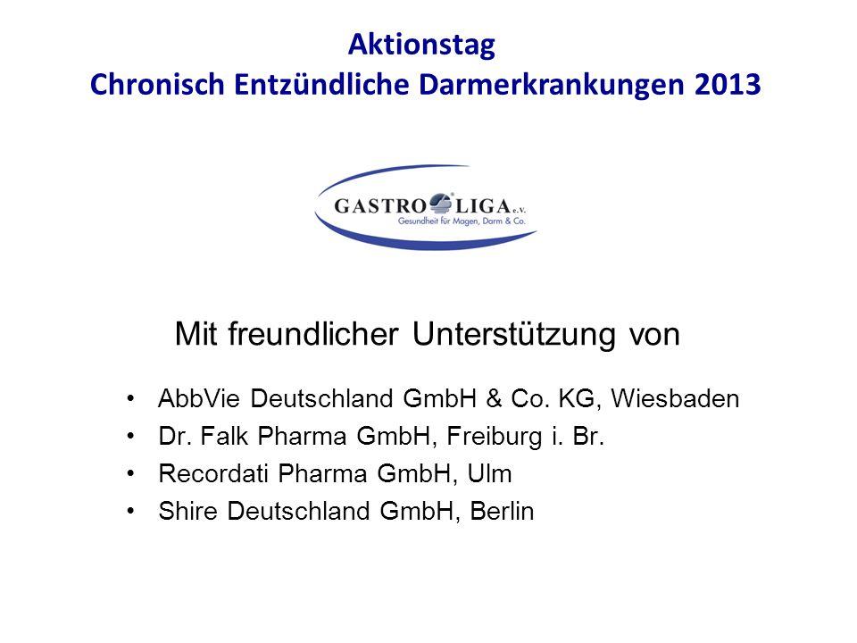 AbbVie Deutschland GmbH & Co. KG, Wiesbaden Dr. Falk Pharma GmbH, Freiburg i. Br. Recordati Pharma GmbH, Ulm Shire Deutschland GmbH, Berlin Aktionstag