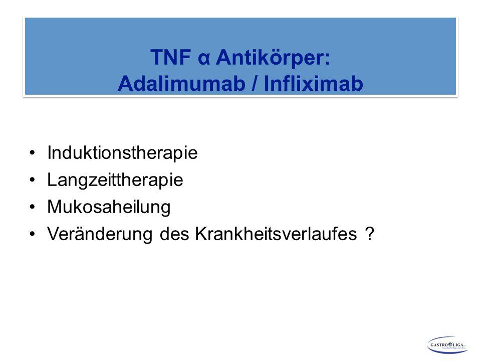 Induktionstherapie Langzeittherapie Mukosaheilung Veränderung des Krankheitsverlaufes ?