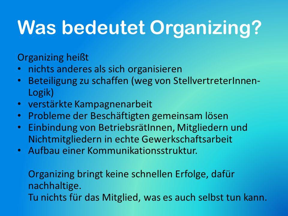 Was bringt Organizing.