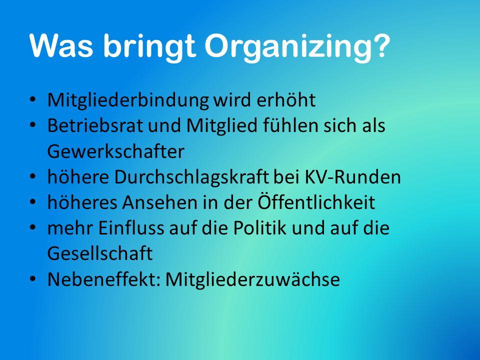 Warum Organizing.