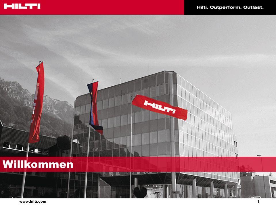 2 www.hilti.com Gegründet 1941 in Schaan, Fürstentum Liechtenstein Eine der weltweit führenden Firmen für Produkte, Systeme und Dienst- leistungen für den Bauprofi Präsent in mehr als 120 Ländern auf 6 Kontinenten Ca.