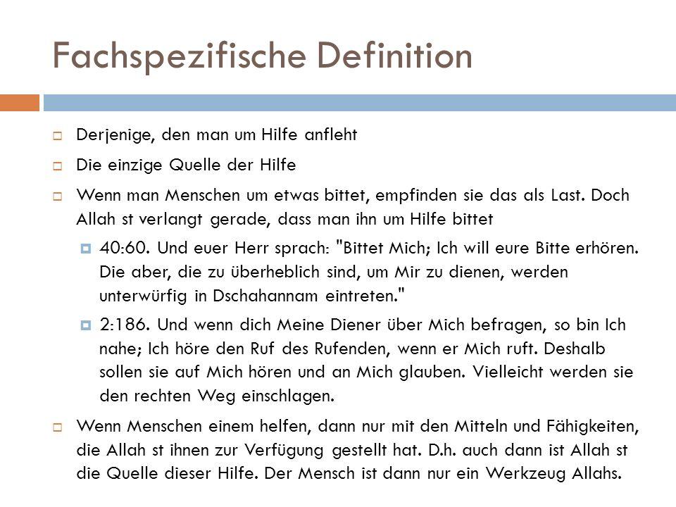 Vorkommen im Kuran  Kommt zwei mal als Name in Bezug auf Allah st vor  12:18.