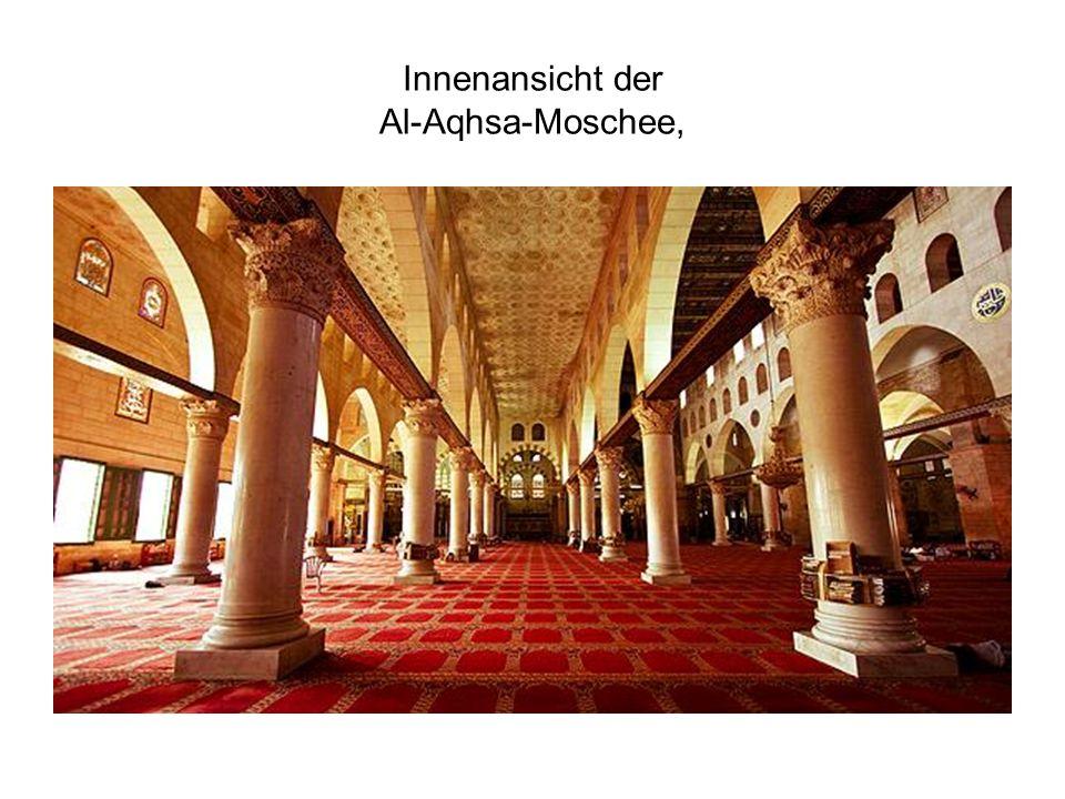 Innenansicht der Al-Aqhsa-Moschee,