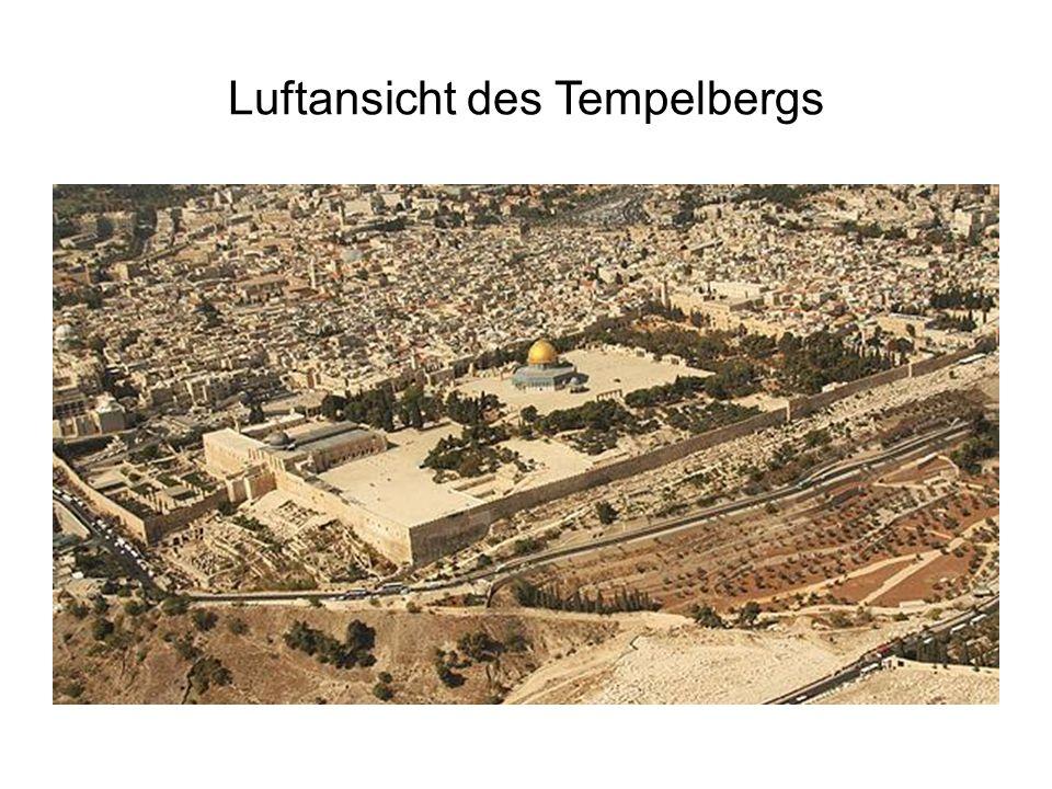 Luftansicht des Tempelbergs