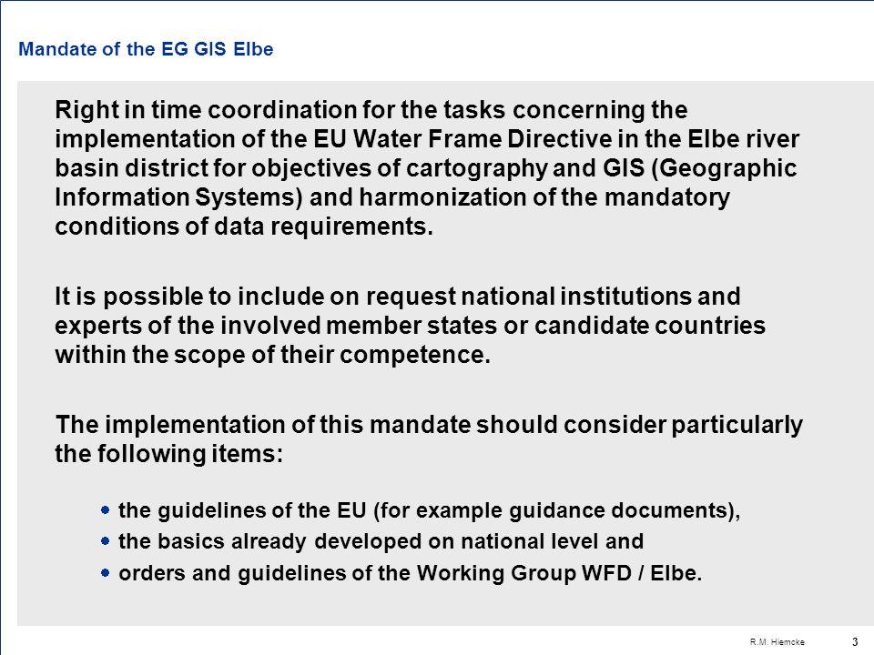 R.M. Hiemcke 14 Koordinierungsschema GIS Elbe