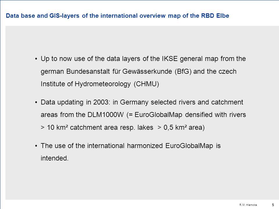 R.M. Hiemcke 6 Coordination scheme GIS Elbe