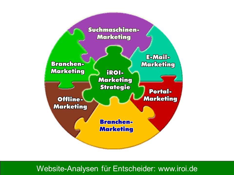 Website-Analysen für Entscheider: www.iroi.de