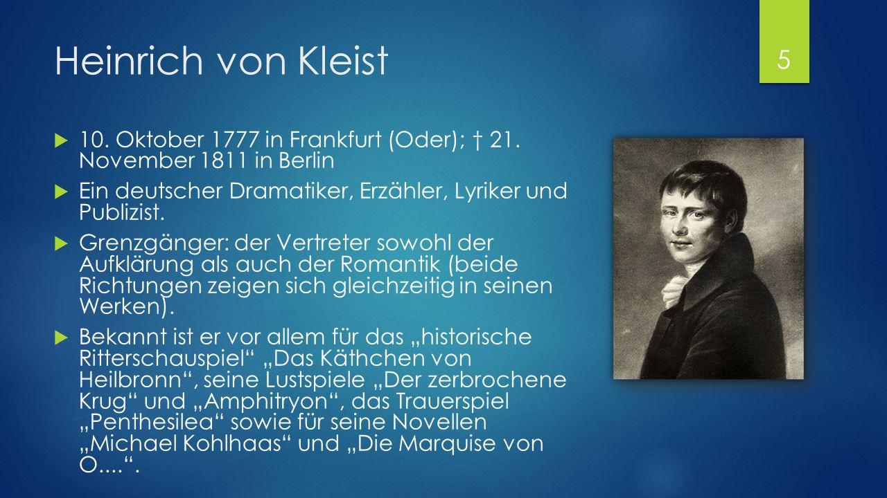 Ernest Theodor Amadeus Hoffmann  24. Januar 1776 in Königsberg; † 25.