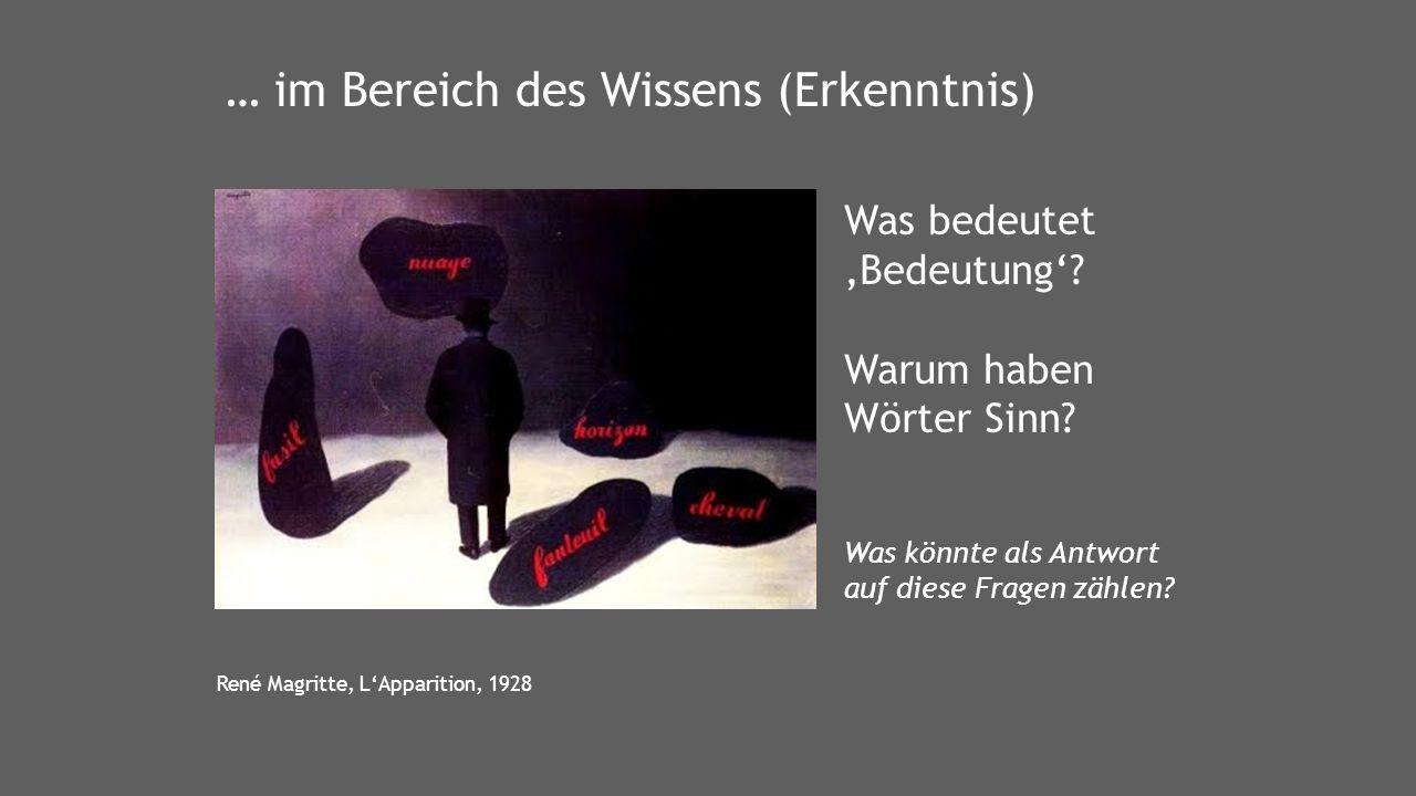 René Magritte, L'Apparition, 1928 Was bedeutet 'Bedeutung'.