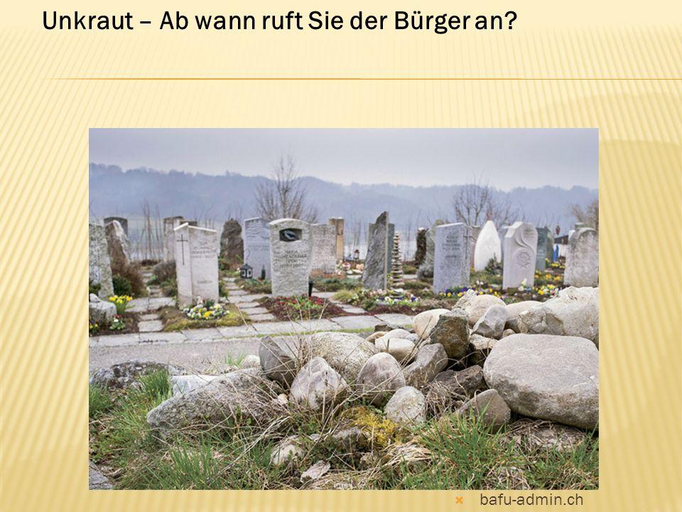  bafu-admin.ch Unkraut – Ab wann ruft Sie der Bürger an?