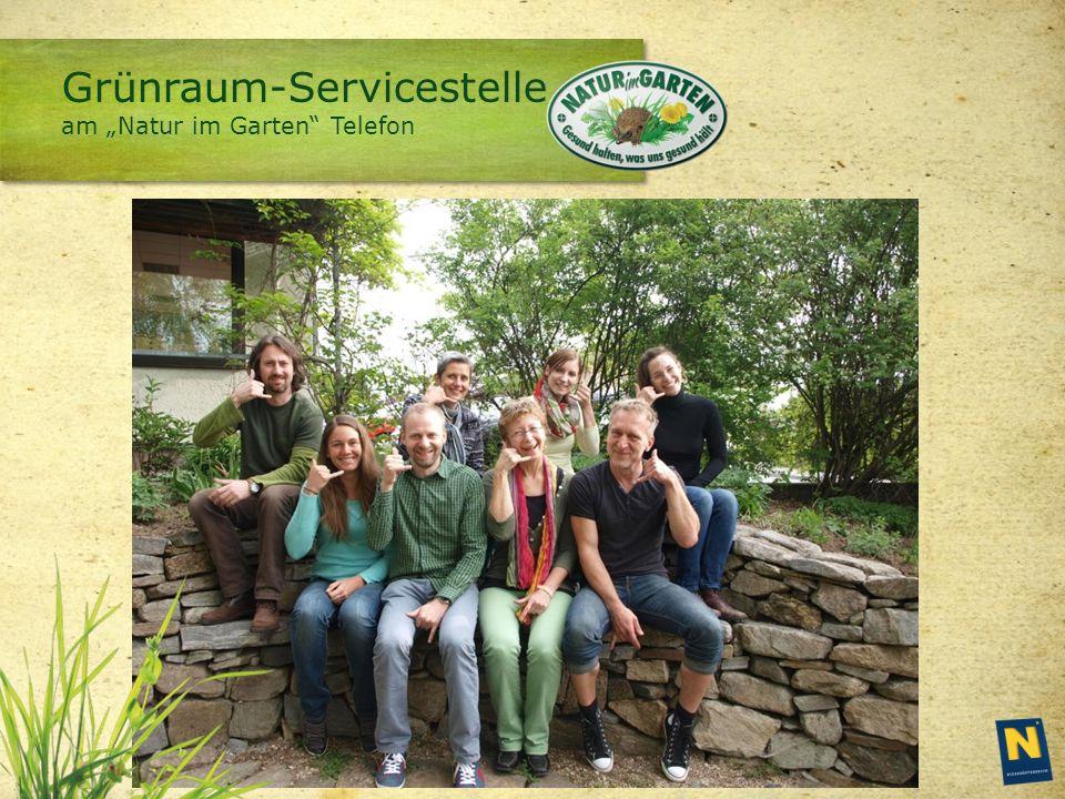 """Grünraum-Servicestelle am """"Natur im Garten Telefon"""