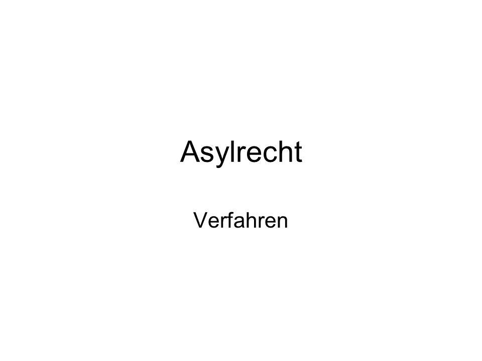 Asylrecht Verfahren