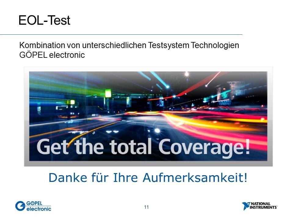 11 EOL-Test Kombination von unterschiedlichen Testsystem Technologien GÖPEL electronic Danke für Ihre Aufmerksamkeit!