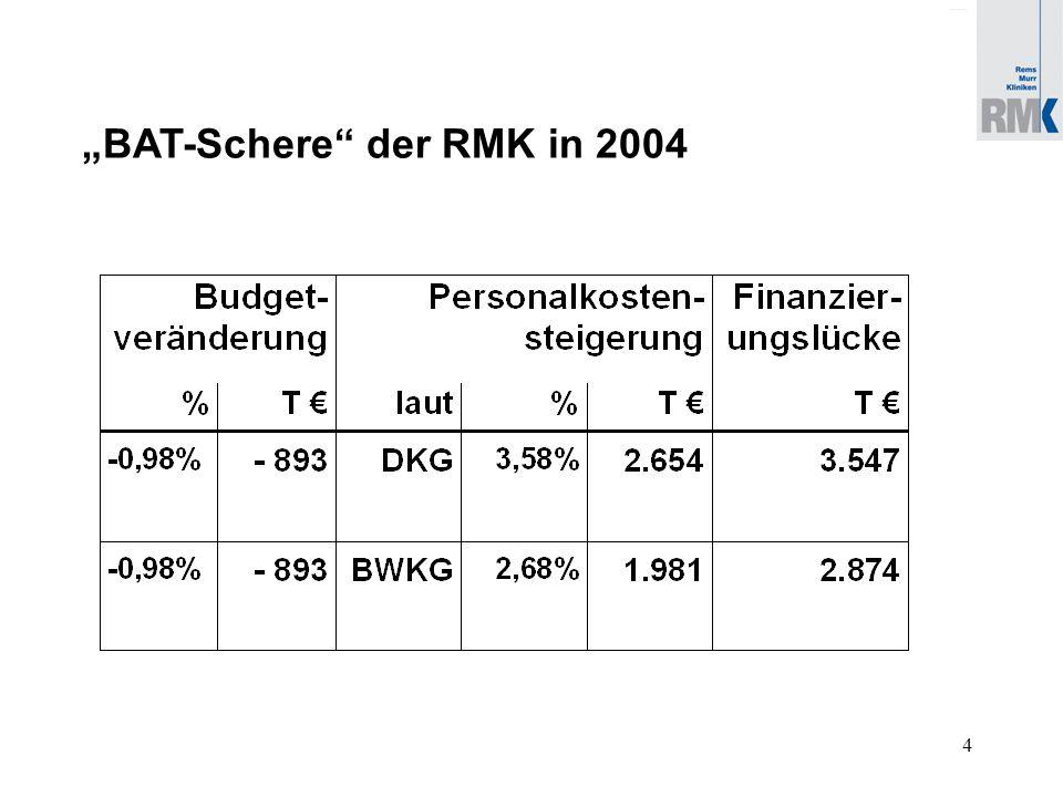 5 Aus heutiger Sicht ist das EUGH-Urteil zum 01.01.2006 umzusetzen: die RMK benötigen zusätzlich: ca.