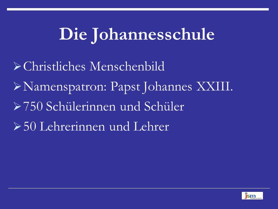  Christliches Menschenbild  Namenspatron: Papst Johannes XXIII.