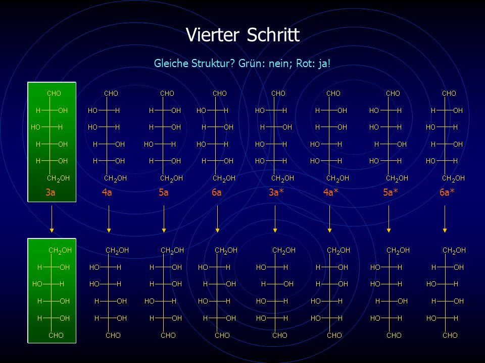 Vierter Schritt 3a4a5a6a4a*6a* Gleiche Struktur? Grün: nein; Rot: ja! 3a*5a*