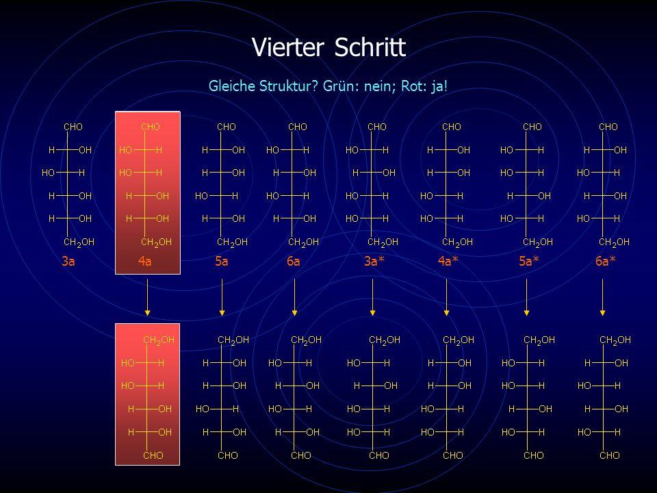 Vierter Schritt 3a4a5a6a4a*6a* Gleiche Struktur Grün: nein; Rot: ja! 3a*5a*