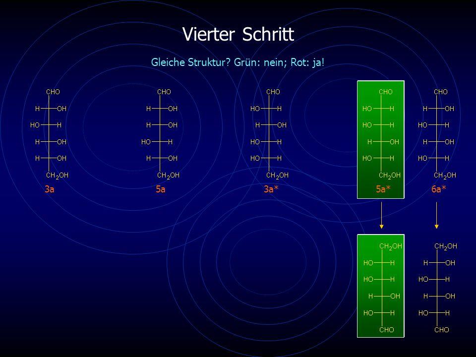 Vierter Schritt 3a5a6a* Gleiche Struktur? Grün: nein; Rot: ja! 3a*5a*